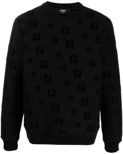 Bawełna z rękawami czarny bluza Fendi