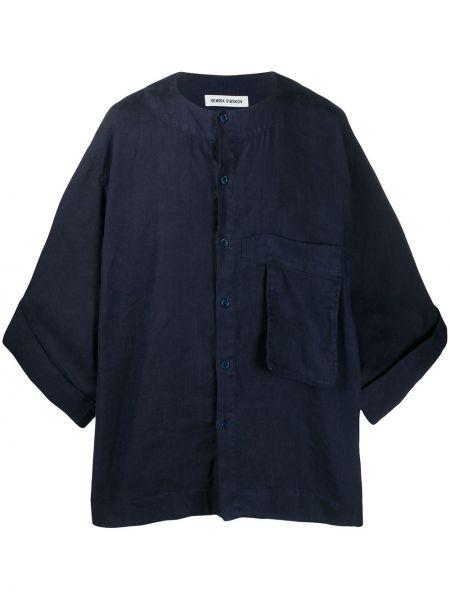 Koszula krótkie z krótkim rękawem dżinsowa prosto Henrik Vibskov