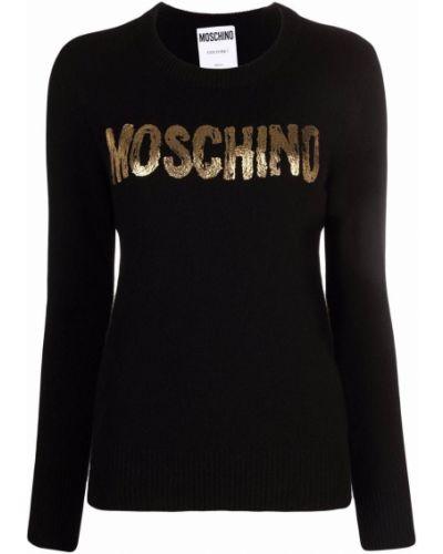 Черная джемпер длинная Moschino