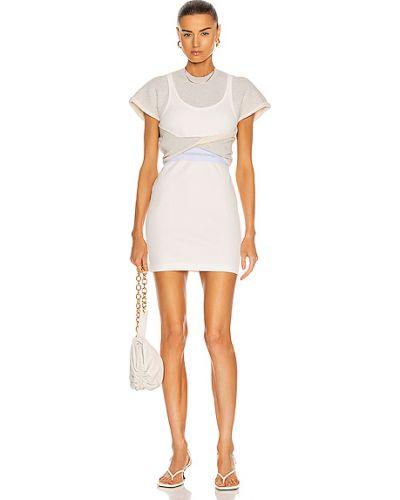 Повседневное трикотажное белое платье мини T By Alexander Wang