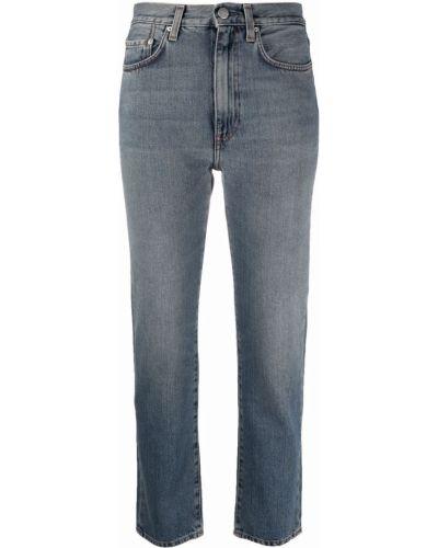 Klasyczne niebieskie jeansy z paskiem Toteme
