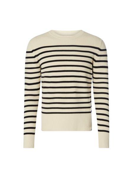 Sweter w paski - biały Norse Projects