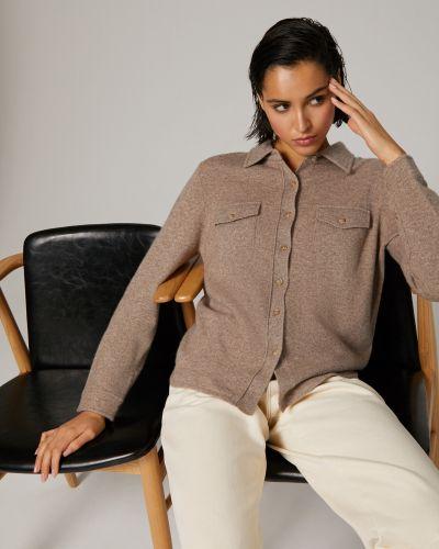 Кожаная рубашка - коричневая 12storeez