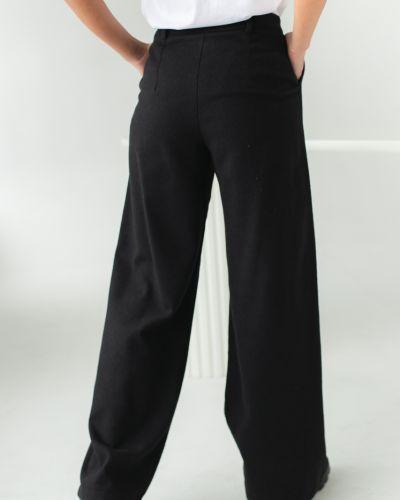 Черные широкие брюки с завышенной талией Clew