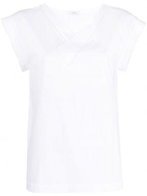 Хлопковая с рукавами белая футболка Peserico