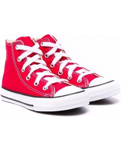 Czerwone trampki koronkowe Converse Kids