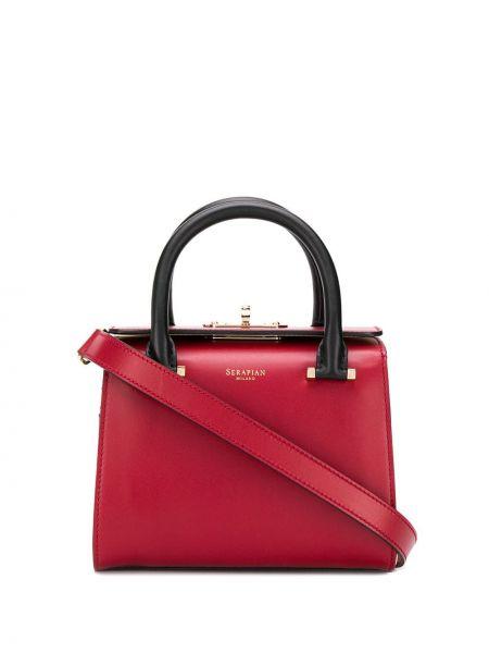 Кожаная сумка - красная Serapian