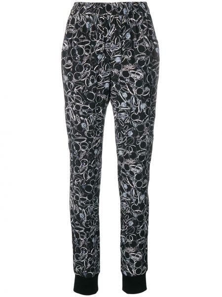 Черные брюки с поясом узкого кроя A.f.vandevorst