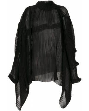 Черный асимметричный топ Litkovskaya