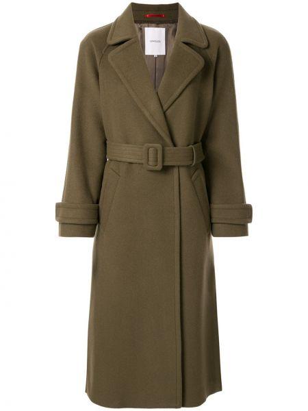 Однобортное длинное пальто с капюшоном с рукавом реглан Loveless