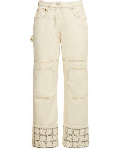 Джинсовые белые джинсы с карманами Jw Anderson
