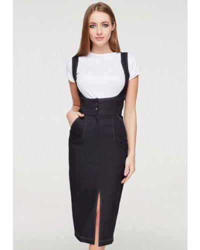 Джинсовое платье - черное Brunello De Neri