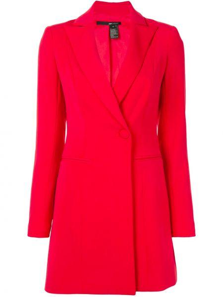 С рукавами красное платье мини с воротником Jay Godfrey