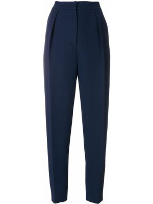 Шелковые брюки - синие Roksanda