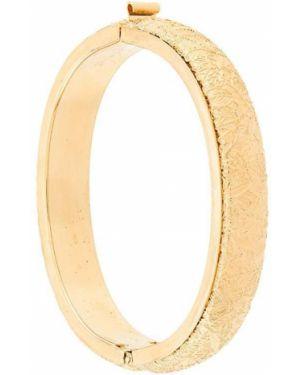 Желтый браслет металлический Monet Pre-owned