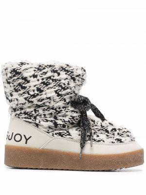 Ботинки на шнуровке - белые Khrisjoy