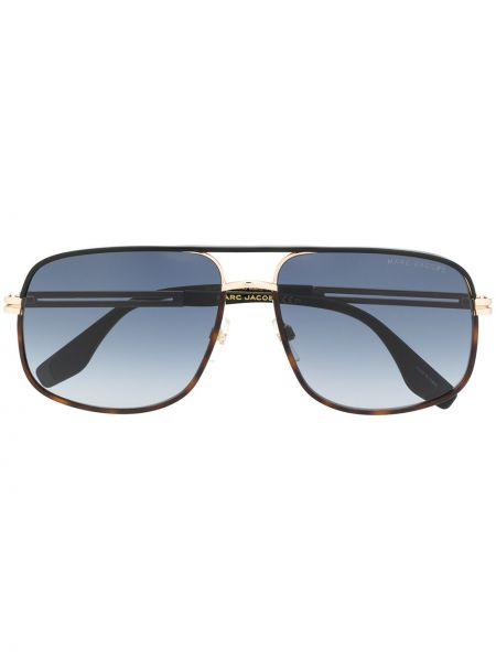 Золотистые коричневые солнцезащитные очки металлические Marc Jacobs Eyewear