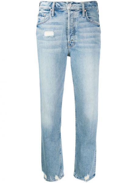 Укороченные джинсы на пуговицах с карманами Mother