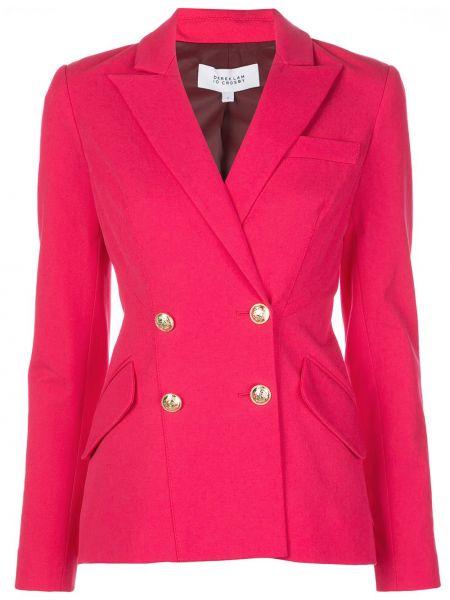 Розовый приталенный удлиненный пиджак двубортный Derek Lam 10 Crosby