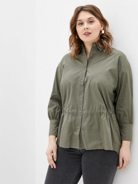 Рубашка с длинным рукавом хаки зеленый Dlys