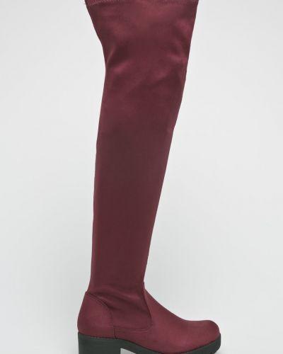 Сапоги на каблуке текстильные Answear