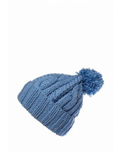 Голубая шапка с помпоном Check Ya Head