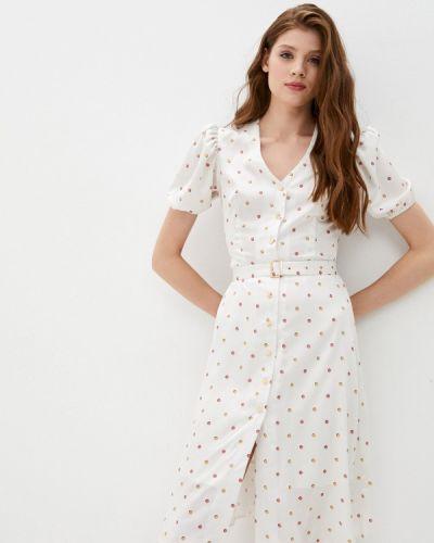 Белое прямое платье Lorani