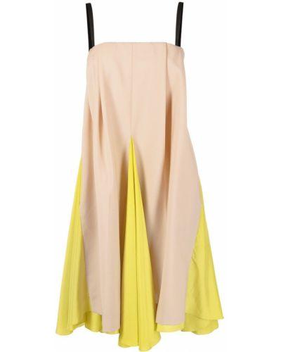 Тонкое шелковое платье миди на бретелях Nina Ricci