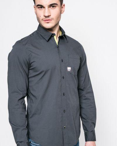 Серая рубашка однотонная S.oliver