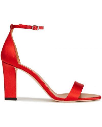 Sandały skorzane klamry na obcasie Victoria Beckham