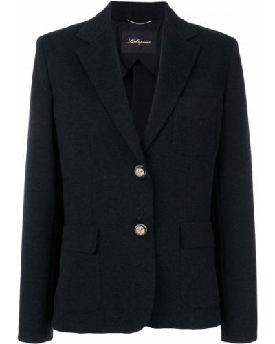Черный классический пиджак с карманами Les Copains