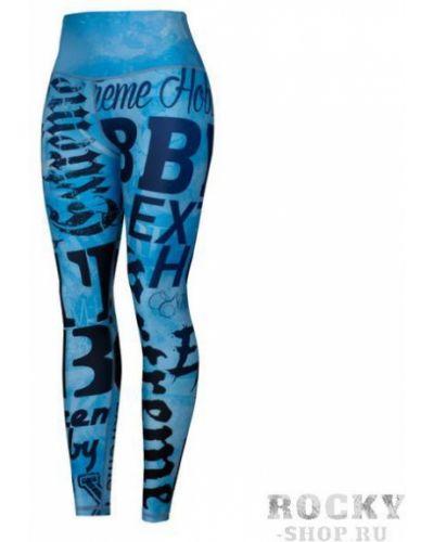 Кожаные синие брюки на резинке Extreme Hobby