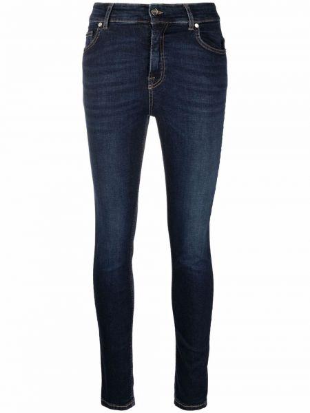 Джинсовые зауженные джинсы - синие Blugirl
