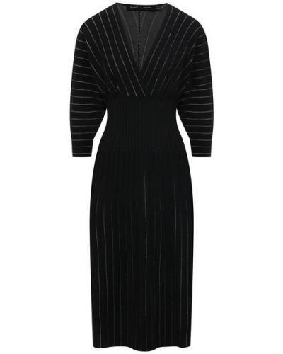 Платье из вискозы - черное Proenza Schouler
