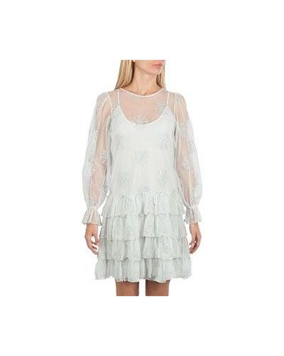 Вечернее платье серое с вышивкой Blugirl