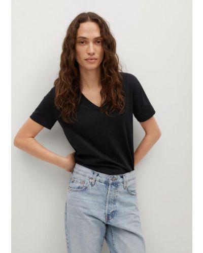 Czarny t-shirt Mango