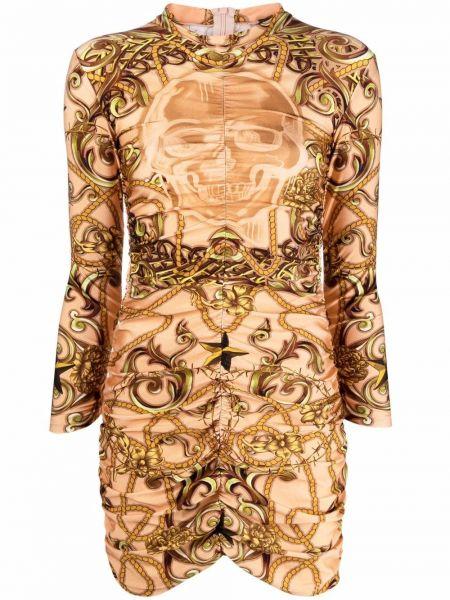 Облегающее платье макси с оборками из вискозы Philipp Plein