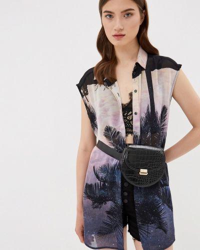 Блузка без рукавов черная Q/s Designed By