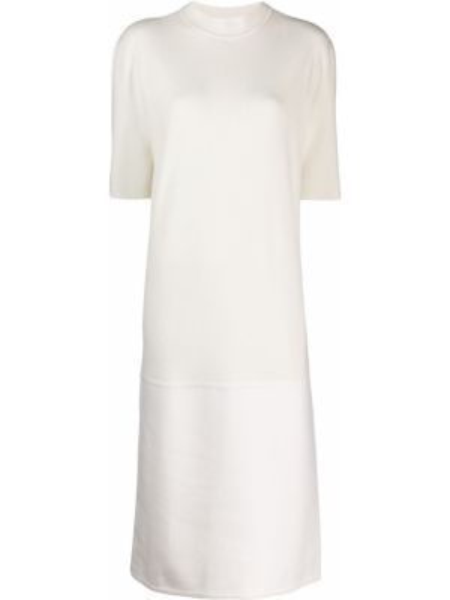 Платье миди кашемировое с рукавами Jil Sander