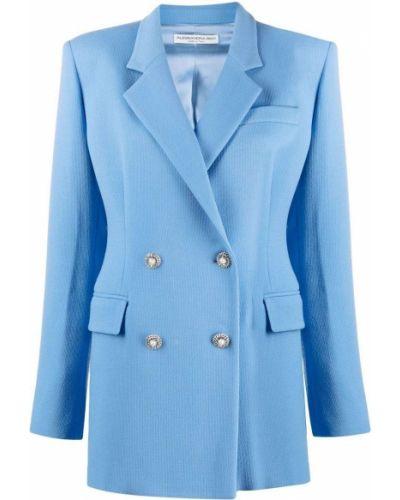 Синяя куртка длинная Alessandra Rich