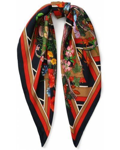 Платок из шелка с узором Gucci