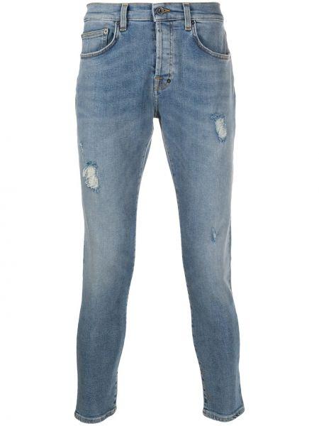 Niebieskie jeansy bawełniane z paskiem Prps