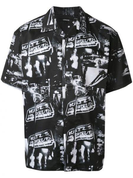 Klasyczna czarna klasyczna koszula krótki rękaw Loveless