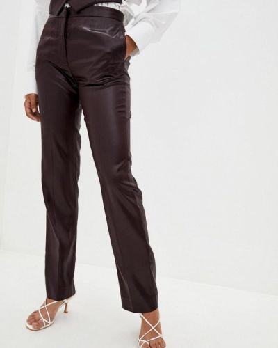 Кожаные коричневые брюки Frankie Morello