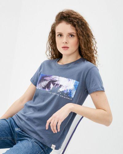 Синяя футболка с короткими рукавами Lee Cooper
