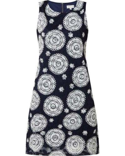 Niebieska sukienka rozkloszowana z nylonu Apricot
