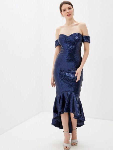 Вечернее платье - синее Goddiva