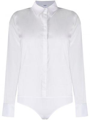 Biała klasyczna koszula bawełniana z długimi rękawami Wolford