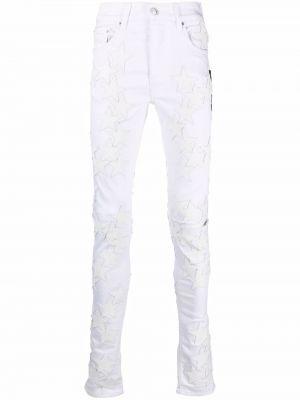 Белые хлопковые джинсы Amiri