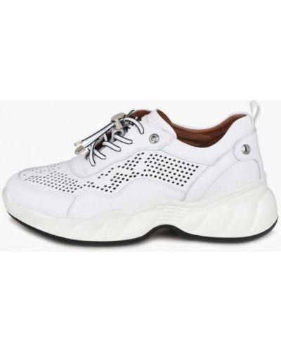 Кожаные кроссовки - белые Kari
